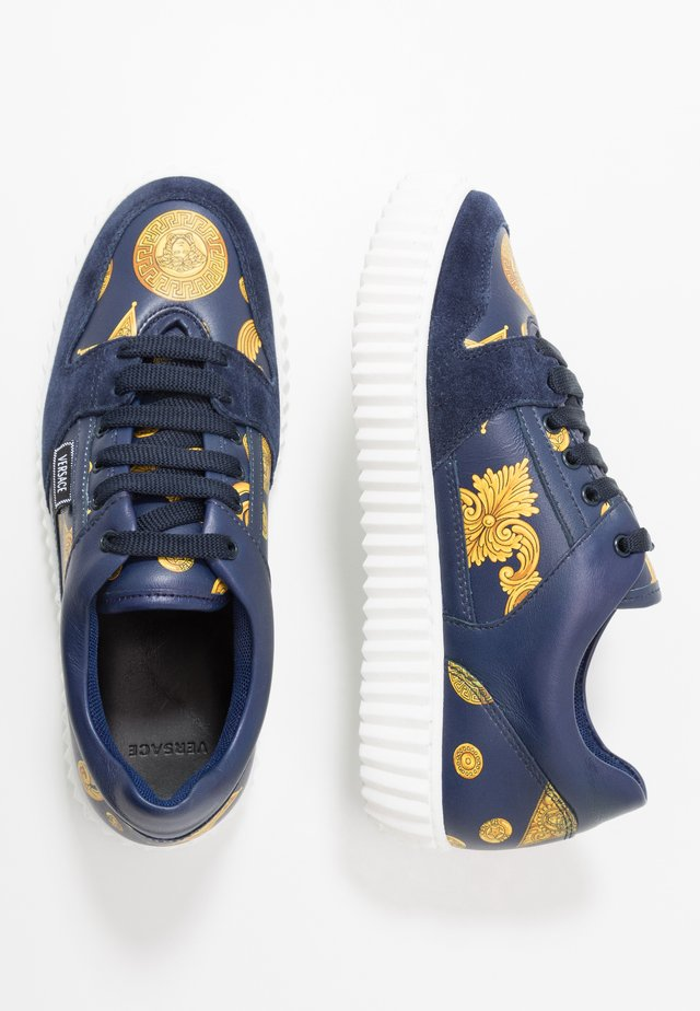 Baskets basses - blue navy/oro