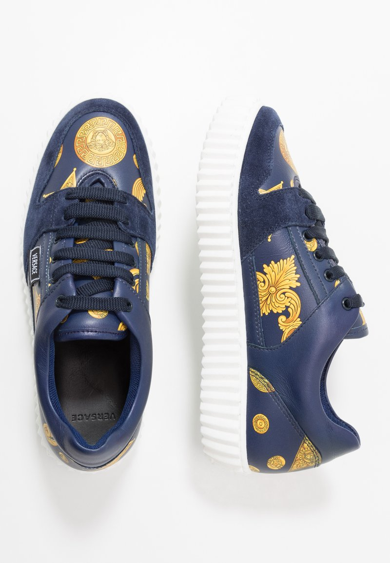 Versace - Baskets basses - blue navy/oro