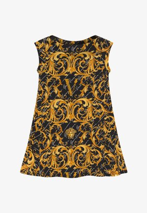 ABITO - Žerzejové šaty - black/gold