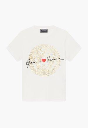 MANICA CORTA - T-shirt print - bianco lana