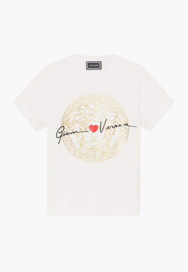 MANICA CORTA - T-shirt con stampa - bianco lana
