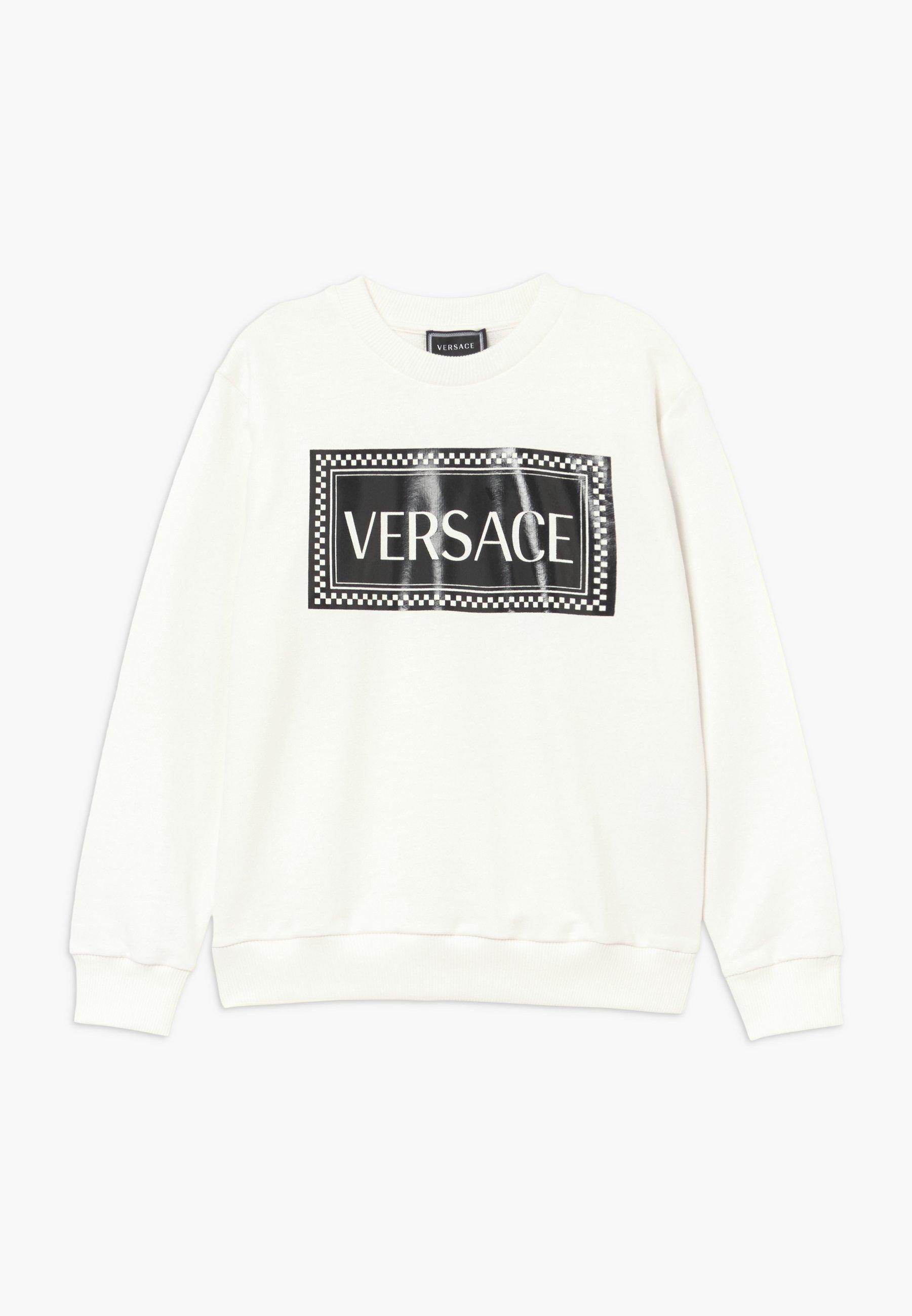 Große Förderung Versace FELPA - Sweatshirt - bianco/nero | Damenbekleidung 2020