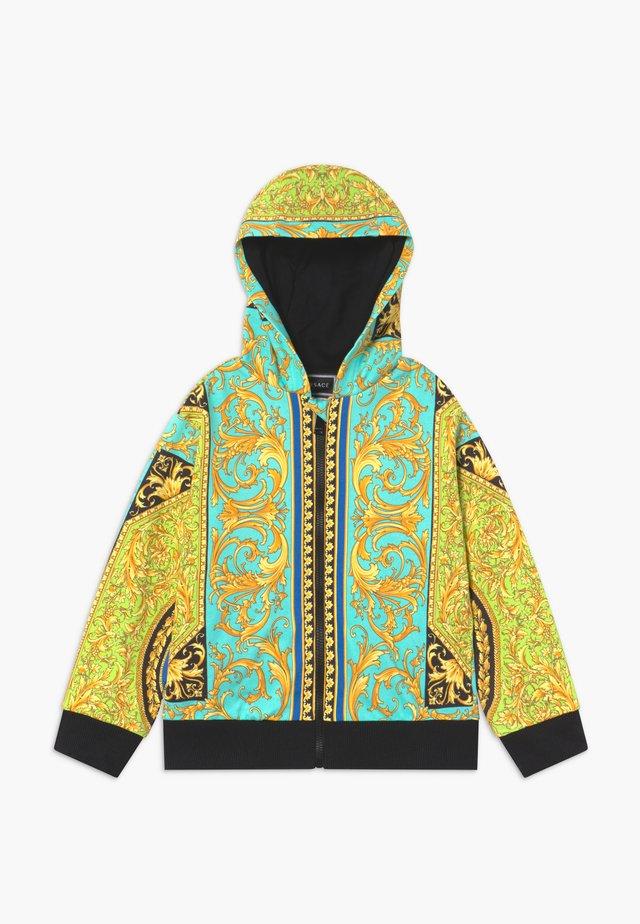 FELPA - Zip-up hoodie - verde/stampa