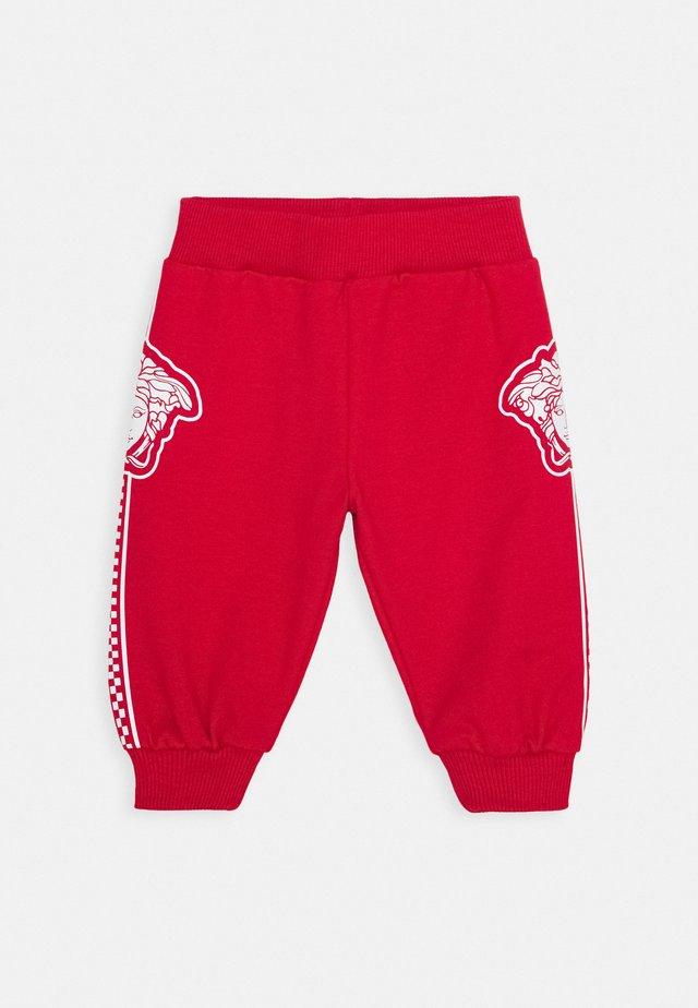 BOTTOM FELPA UNISEX - Spodnie materiałowe - rosso