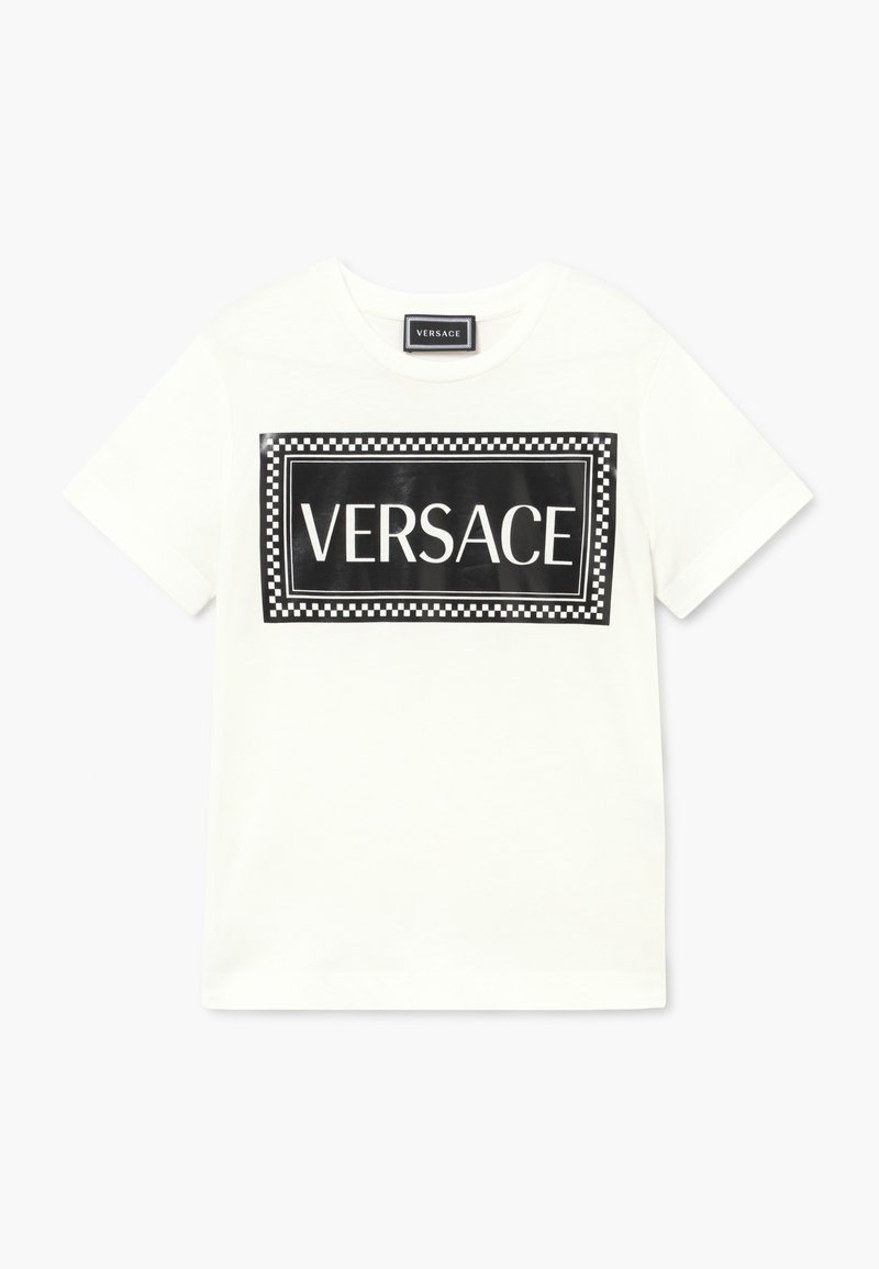 Versace - MAGLIETTA MANICA CORTA - T-shirt imprimé - bianco/nero