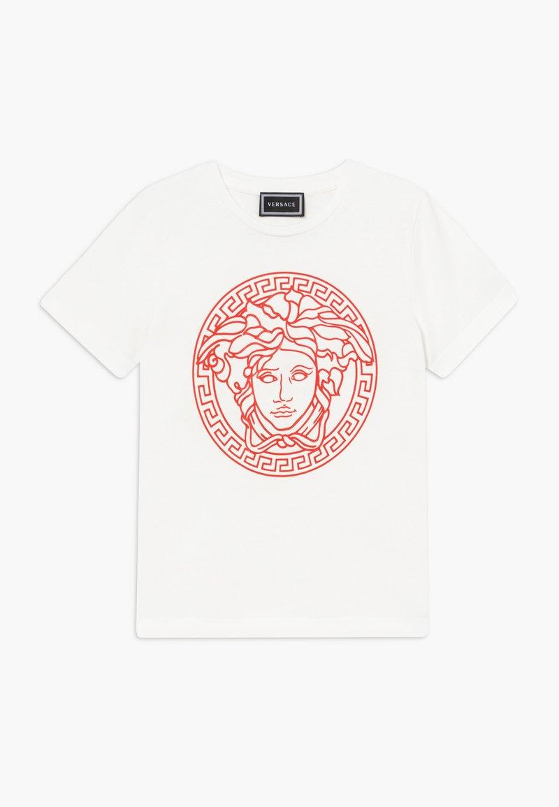 Versace - MAGLIETTA MANICA CORTA - T-shirt imprimé - bianco/rosso