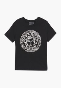 Versace - MAGLIETTA MANICA CORTA - T-shirt print - nero bianco - 0
