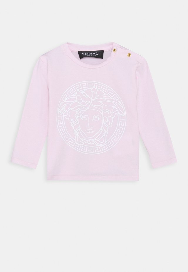 MAGLIETTA MANICA LUNGA UNISEX - Long sleeved top - rosa/bianco