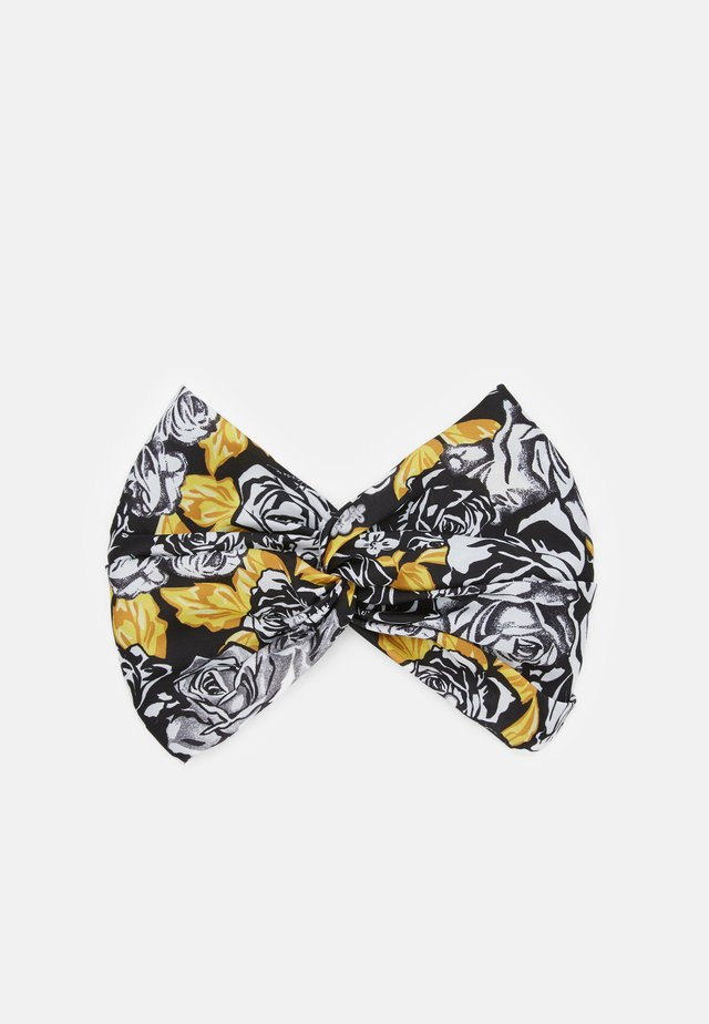FASCIA CON NODO - Foulard à cheveux - bianco/nero/oro