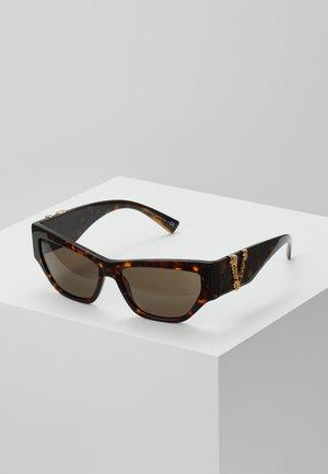 Lunettes de soleil - mottled brown/black