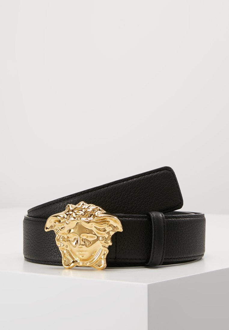 Versace - BELT VITELLO PECCARY - Belt - nero/oro