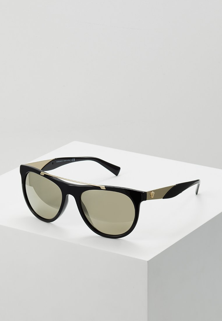 Versace - Gafas de sol - black/light brown mirror gold