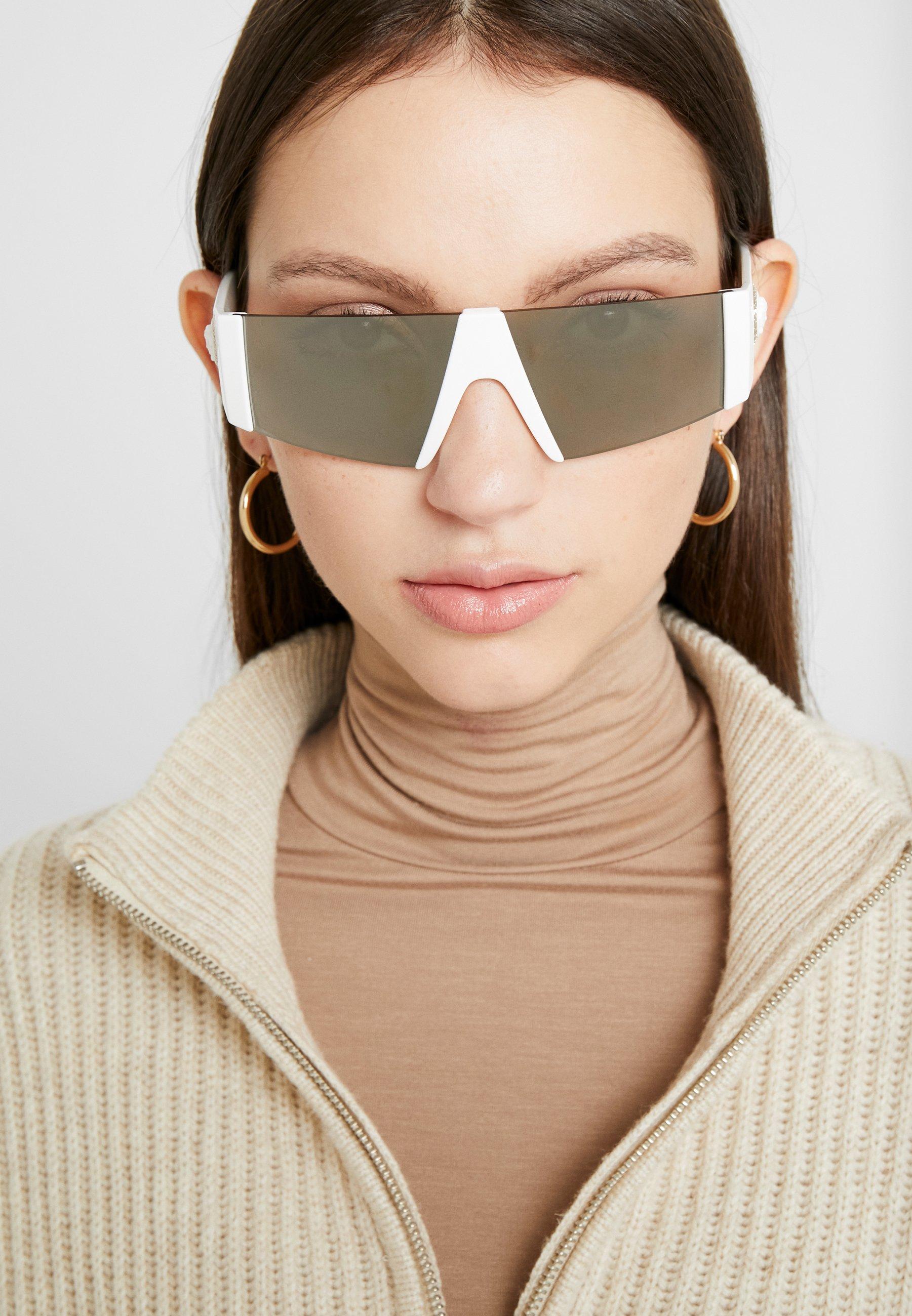 Versace Okulary przeciwsłoneczne - white/brown mirror/dark gold-coloured