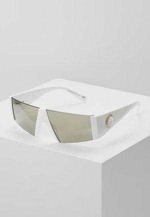 Sonnenbrille - white/brown mirror/dark gold-coloured