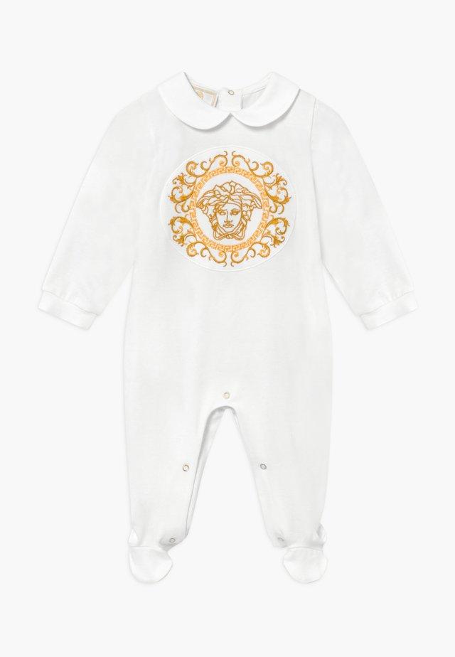TUTINA CON PIEDI BABY - Grenouillère - bianco
