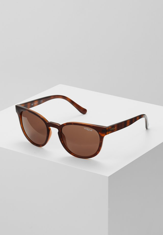 Solbriller - top dark havana/light brown