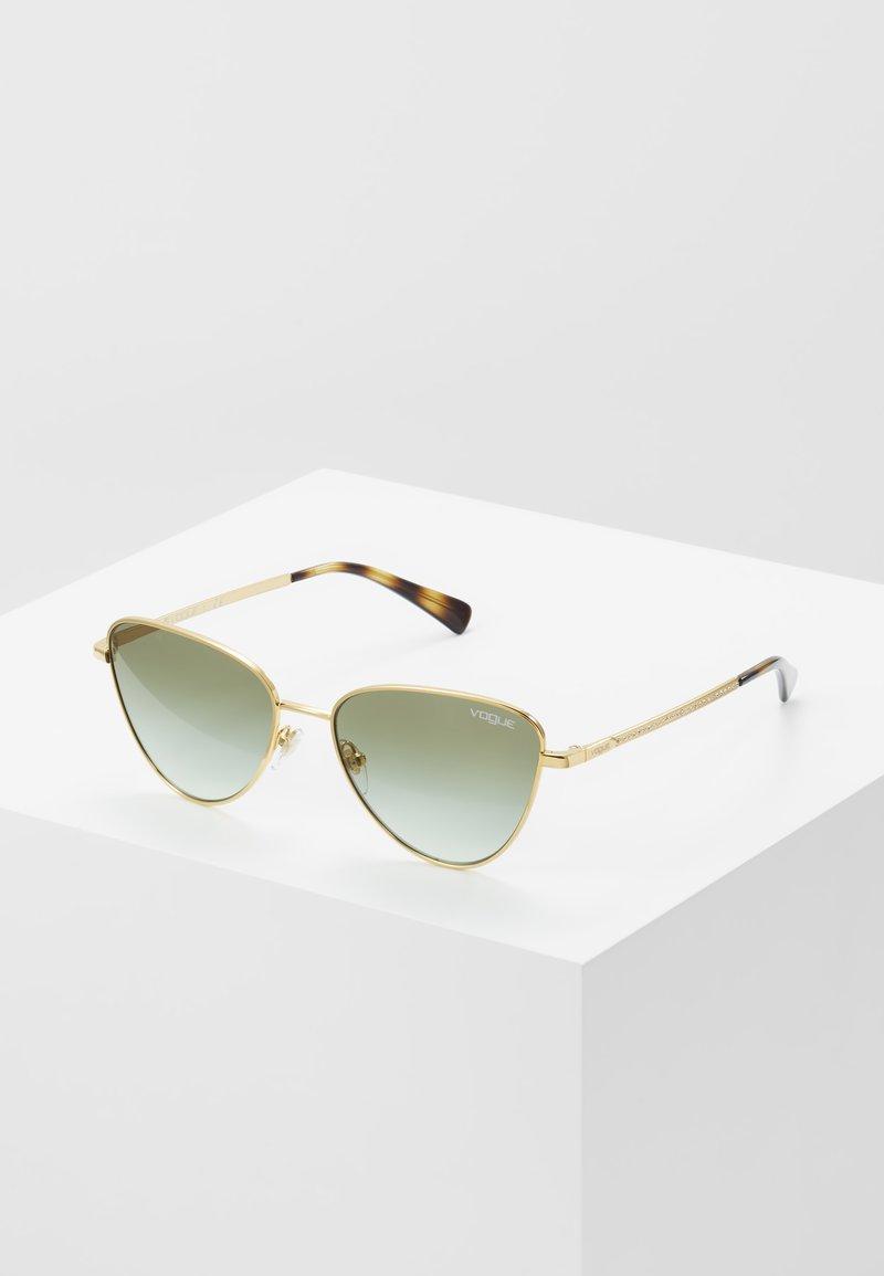 VOGUE Eyewear - Sluneční brýle - gold-coloured/green