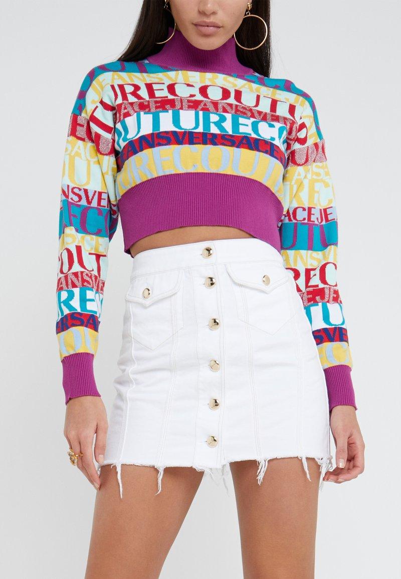 Versace Jeans Couture - Jeansrock - bianco ottico