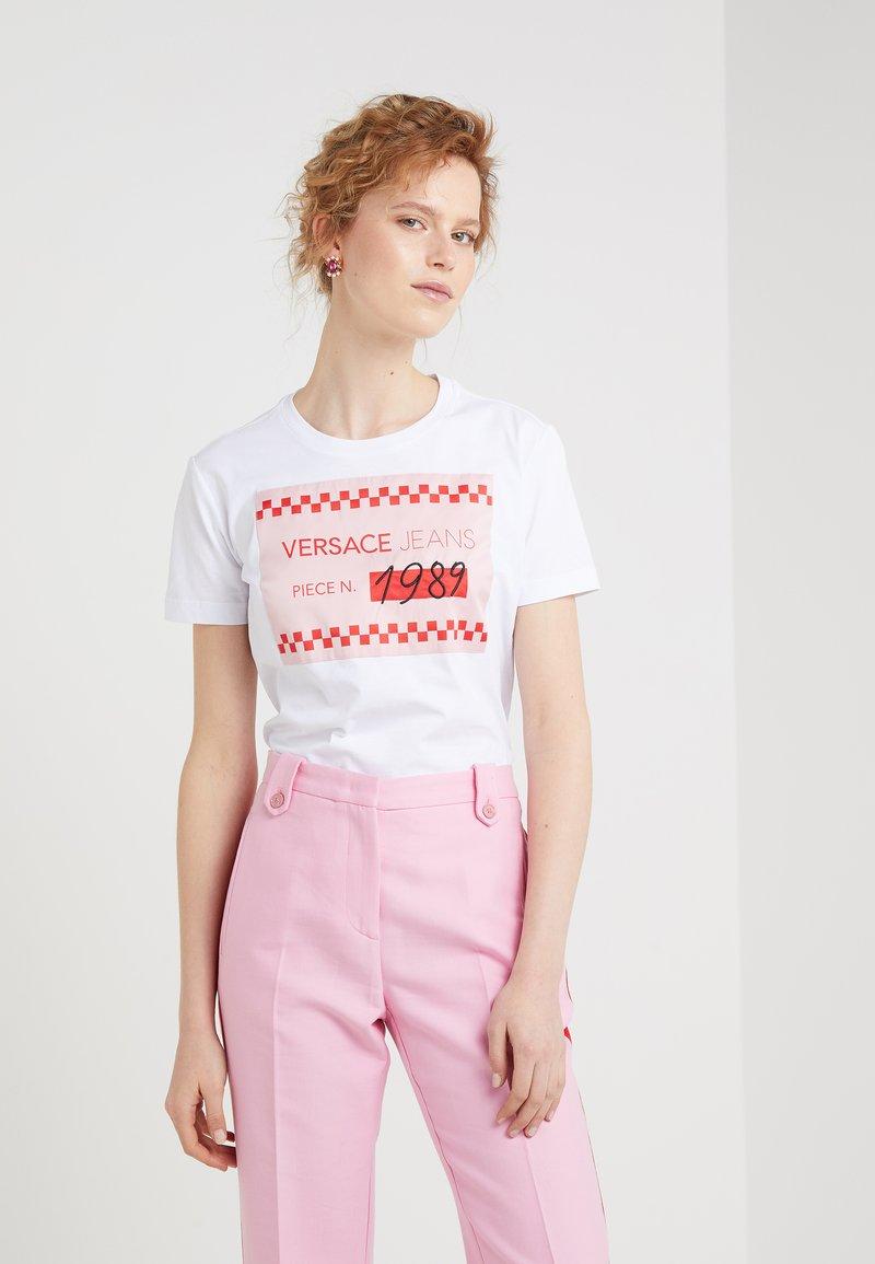 Versace Jeans - T-shirt con stampa - bianco ottico