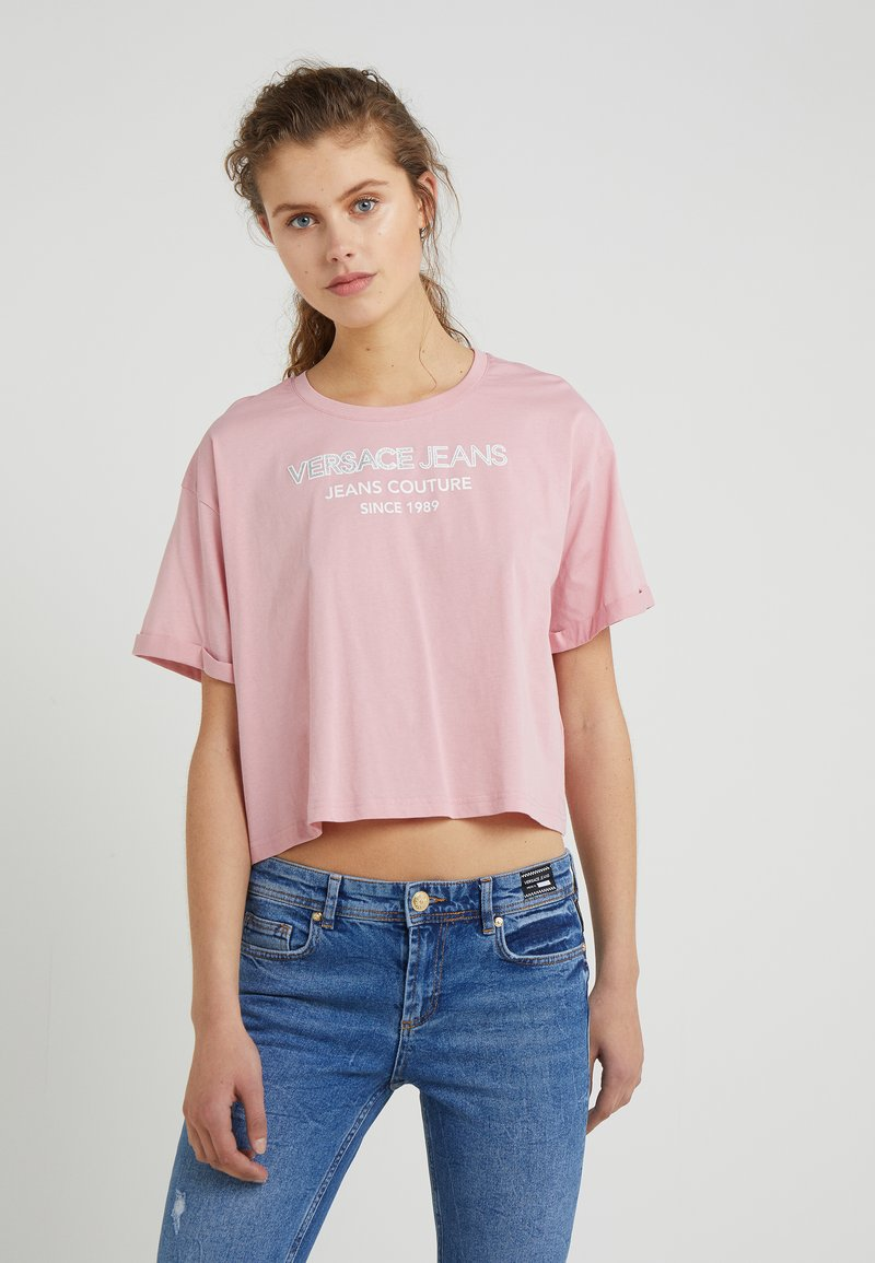 Versace Jeans - T-shirt med print - cipria chiara