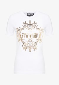 Versace Jeans Couture - T-shirt med print - bianco ottico - 4