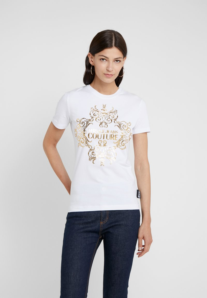 Versace Jeans Couture - T-shirt med print - bianco ottico