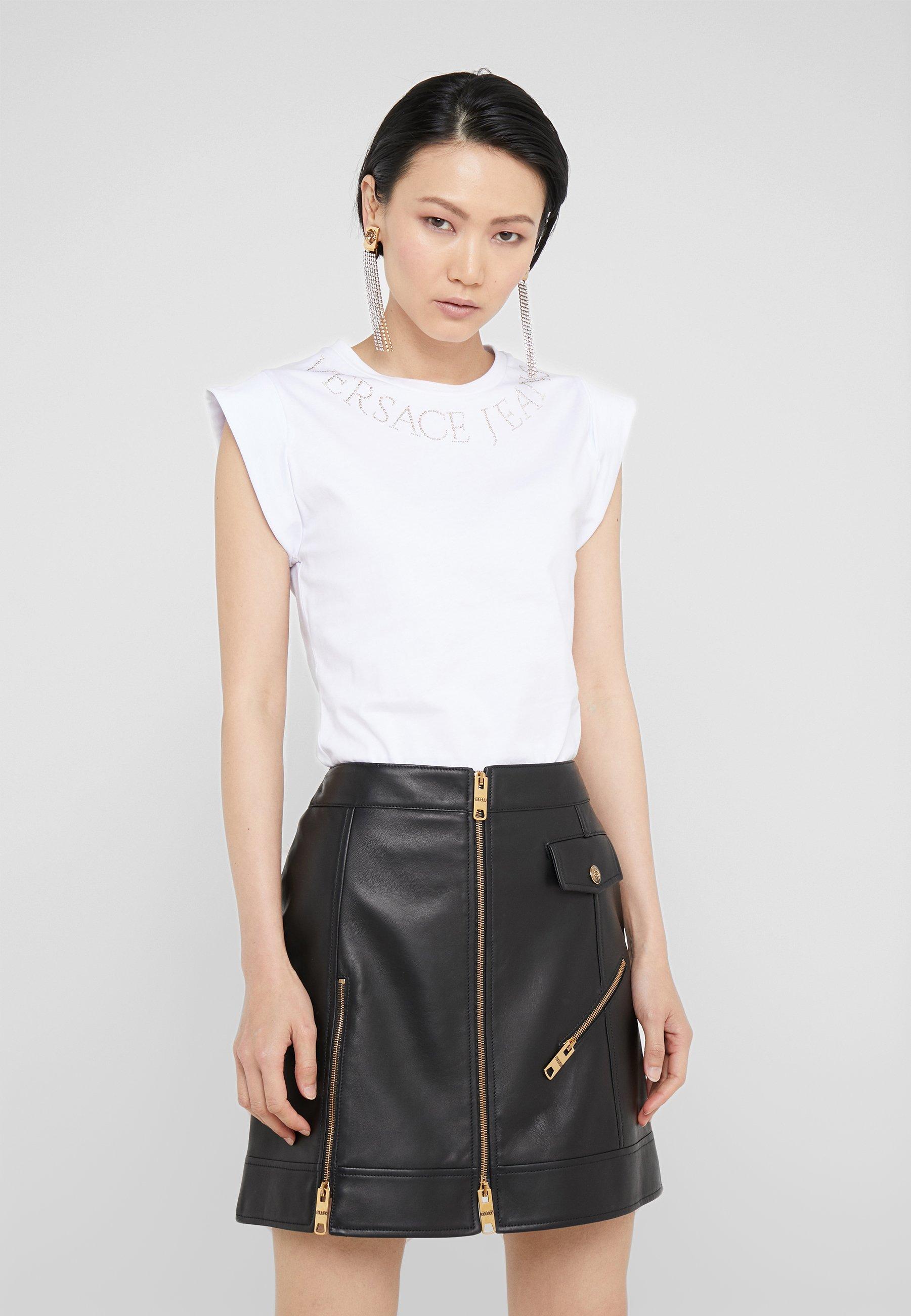 shirt ImpriméBianco Jeans Couture Ottico Versace T QrChdst