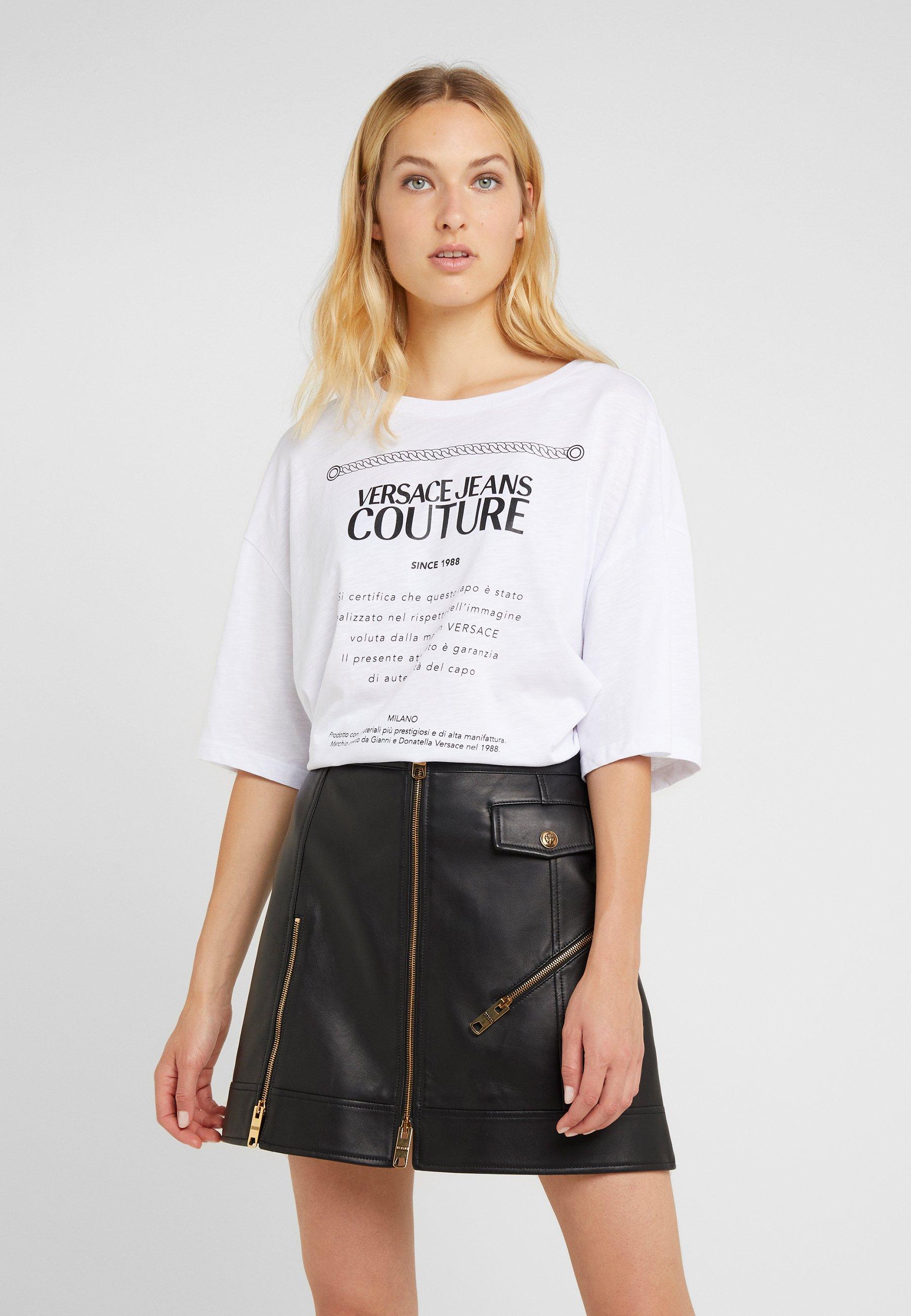 Couture Versace Ottico shirt Jeans T ImpriméBianco wnPO0k8