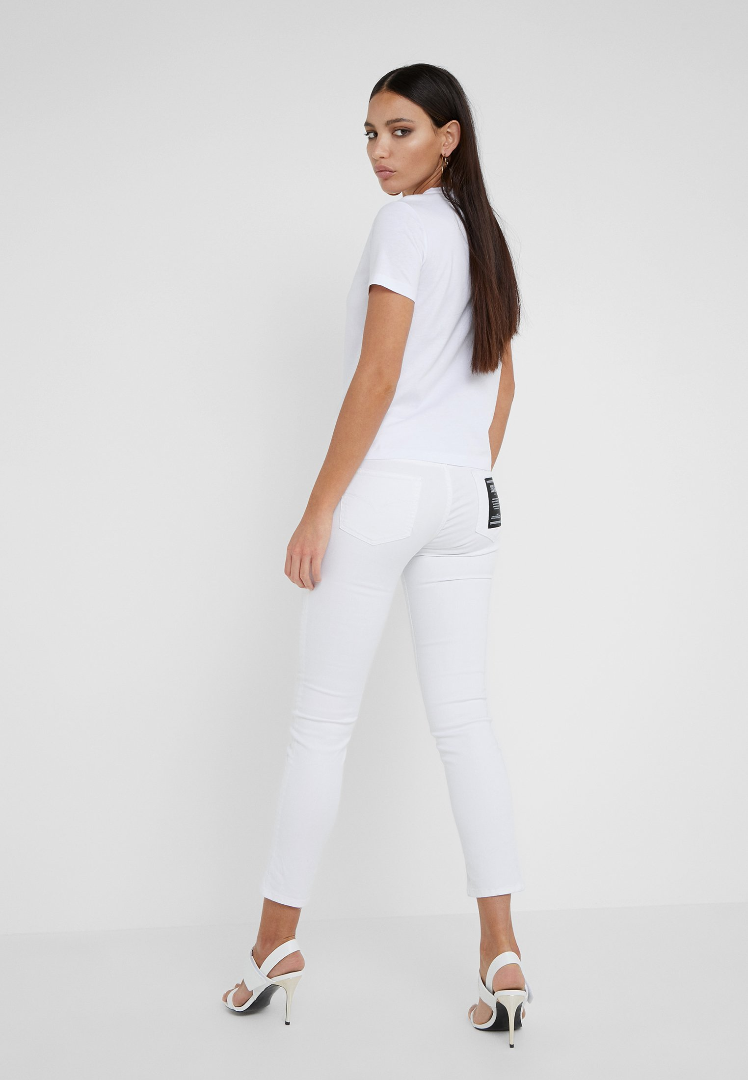 SkinnyBianco Jeans Versace Couture Ottico 35R4AqjL
