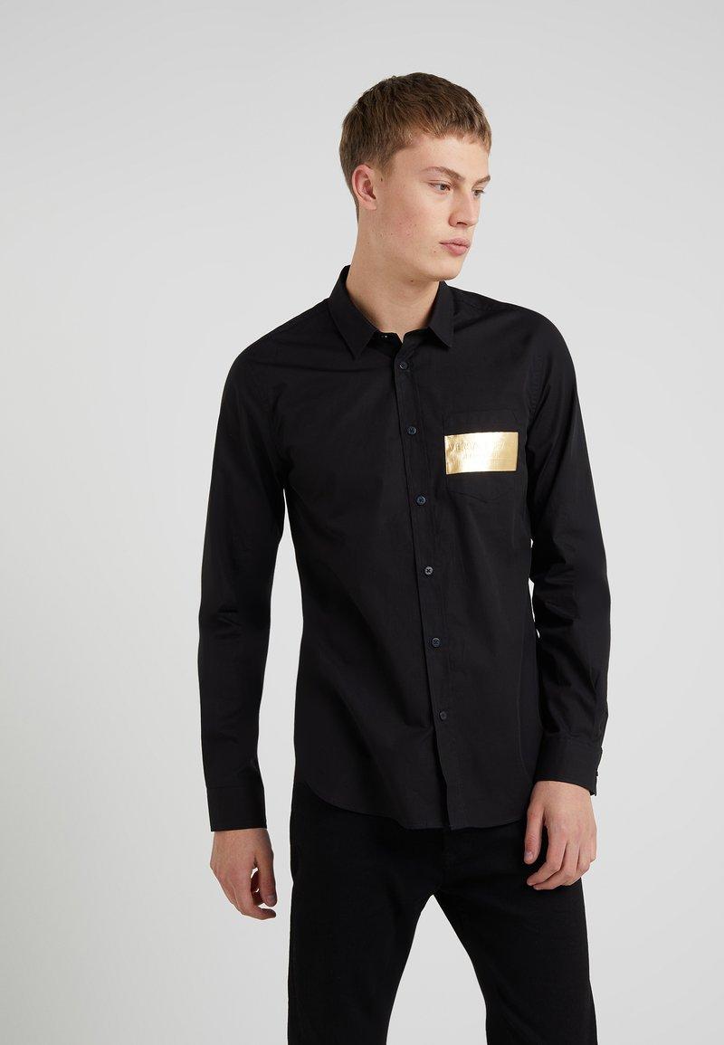 Versace Jeans - SLIM LOGO FOIL - Chemise - black