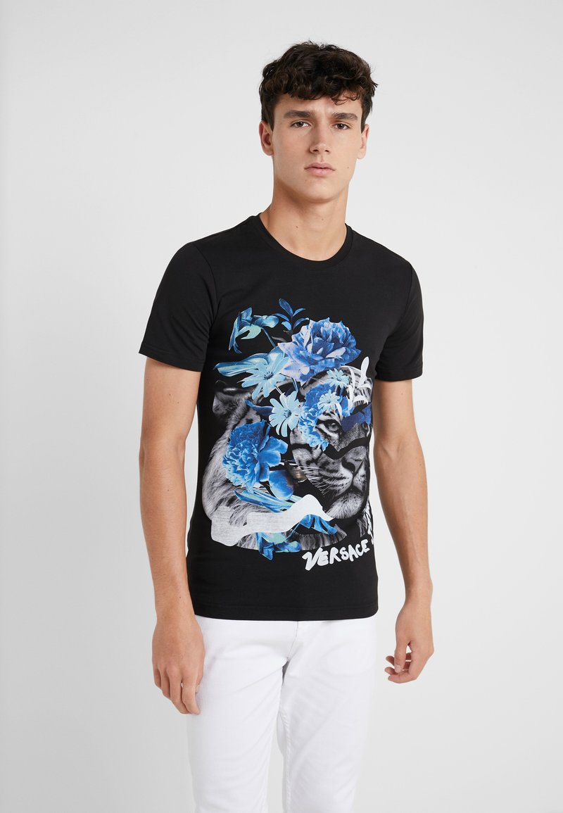 Versace Jeans - EXTRA SLIM FIT - Printtipaita - nero