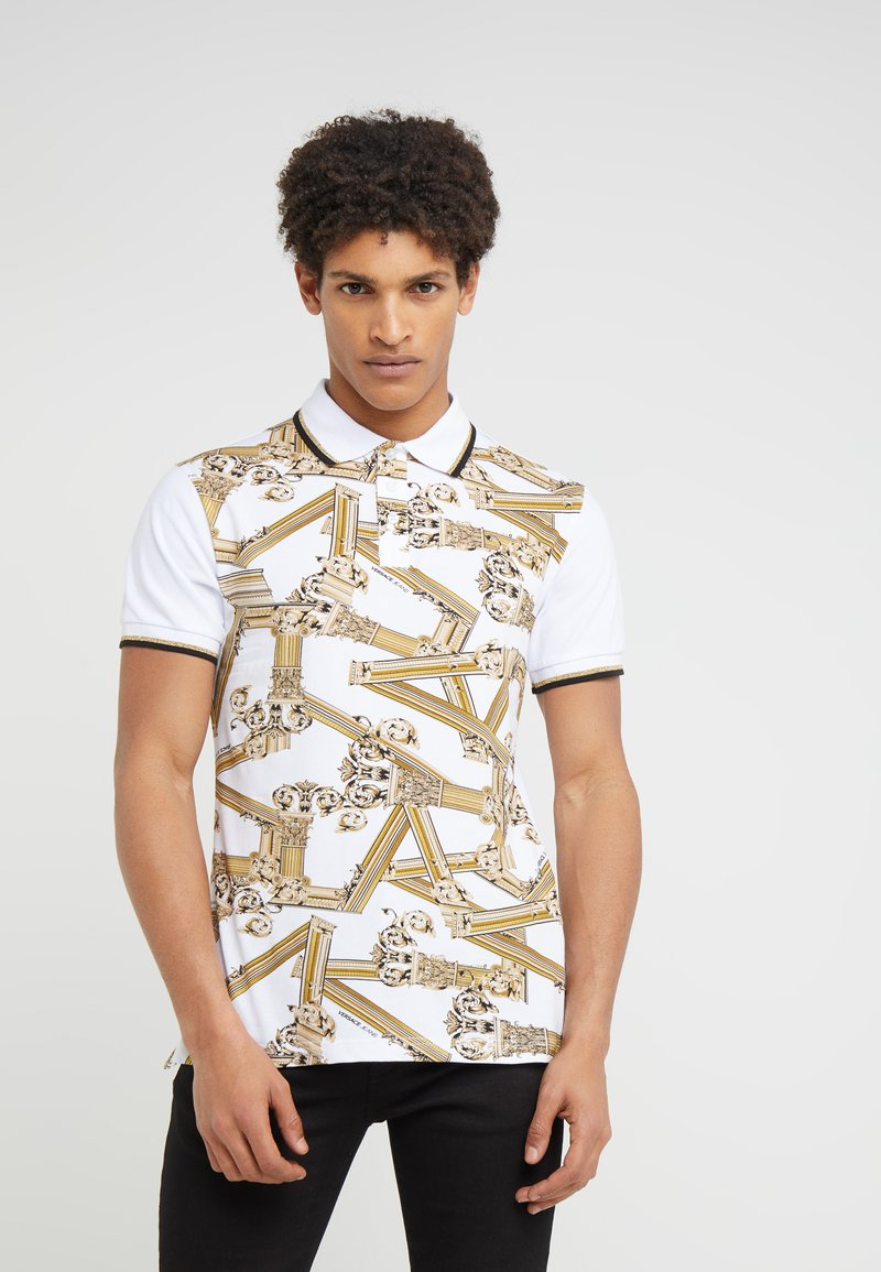 Versace Jeans - CONTRAST SLIM FIT - Polo shirt - white
