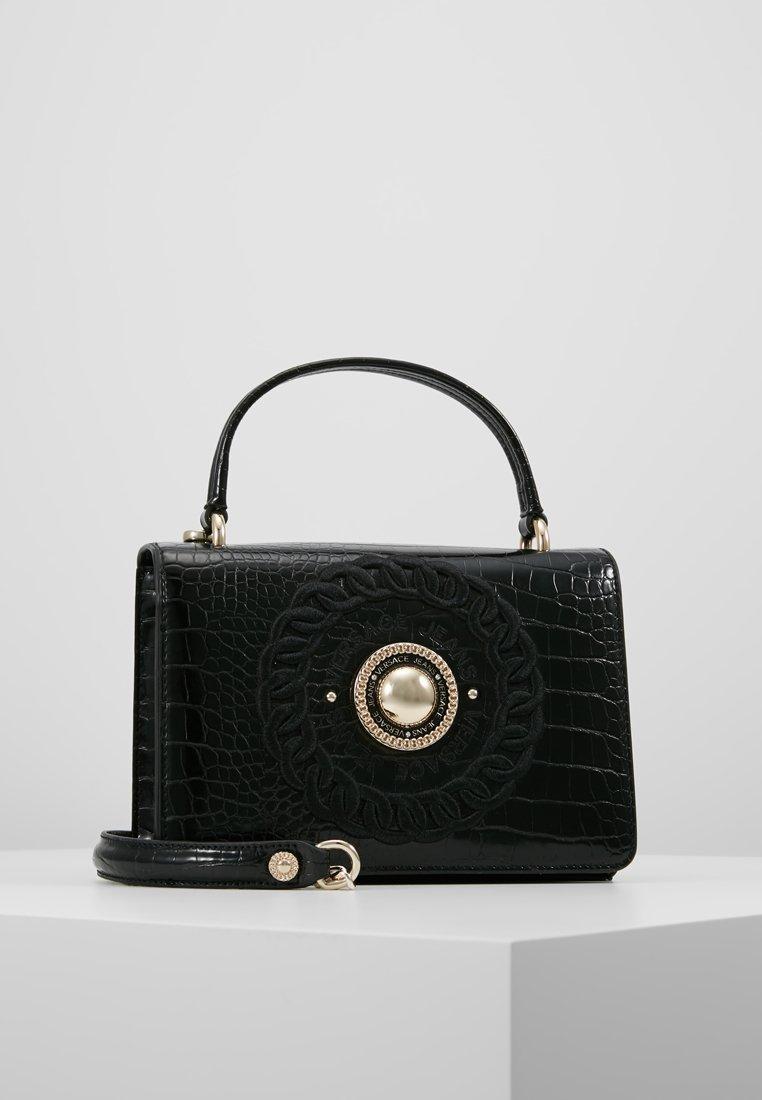 Versace Jeans - CROCO TOP HANDLE - Handbag - nero