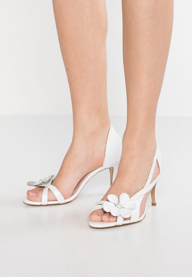 CAROLINE - High heeled sandals - white