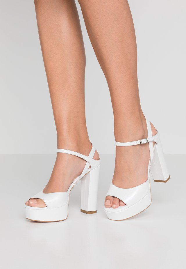 SHINING STAR - High heeled sandals - white