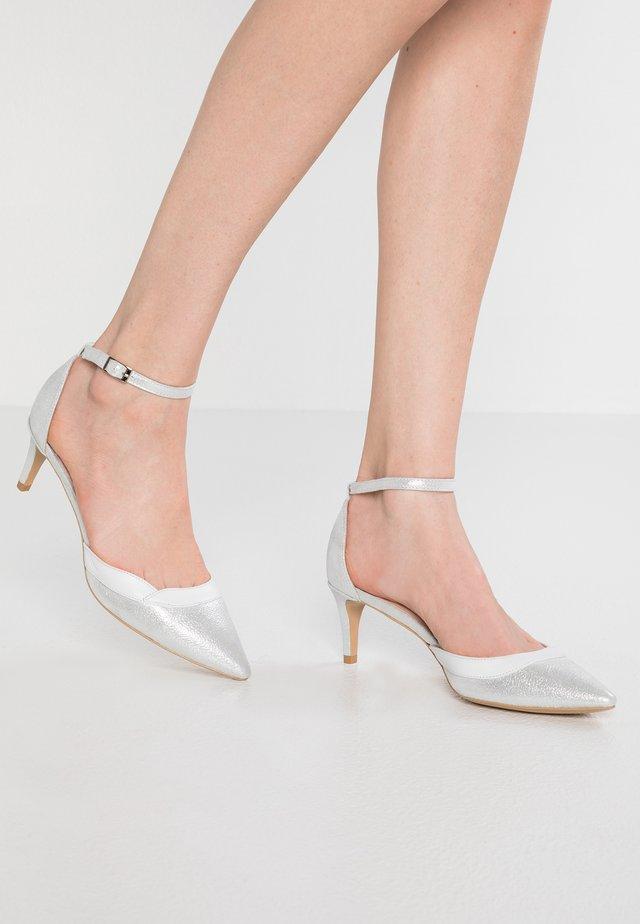 NIGHT - Classic heels - silver/white