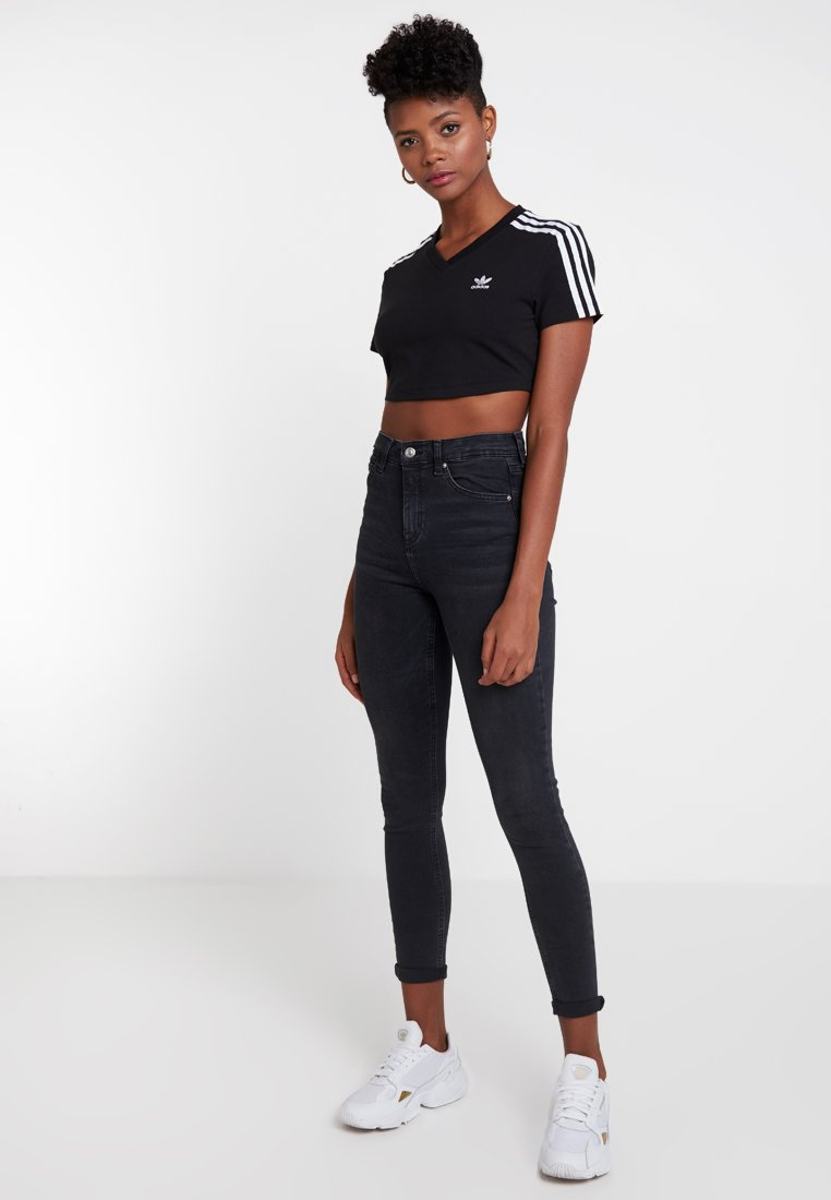 adidas Originals - CROPPED TEE - T-Shirt print - black