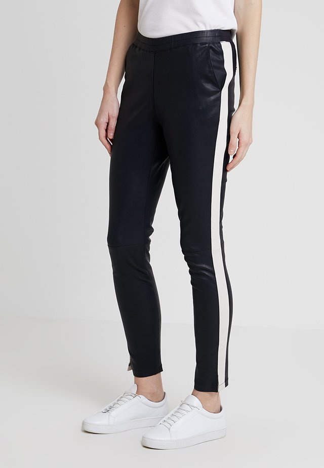 TEQUILA - Trousers - deep navy/white