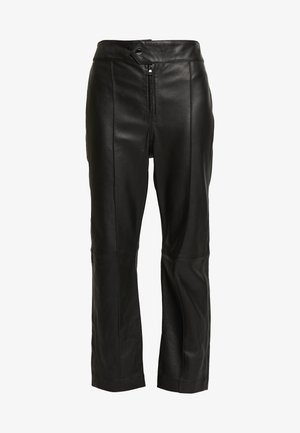 BARBRA - Pantalon en cuir - black