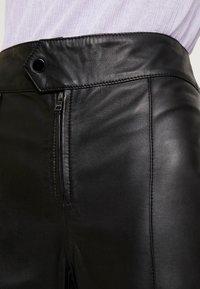 Ibana - BARBRA - Kožené kalhoty - black - 5