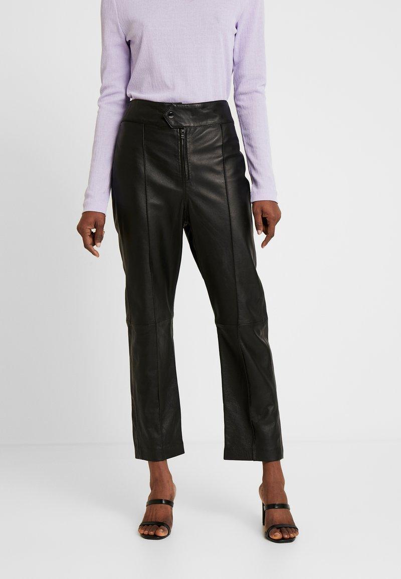 Ibana - BARBRA - Kožené kalhoty - black