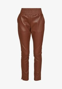 Ibana - COLETTE - Pantalón de cuero - brown - 4