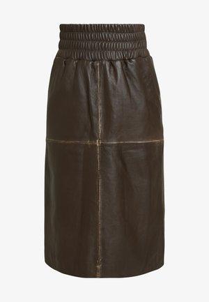 GEORGIA - A-line skirt - brown