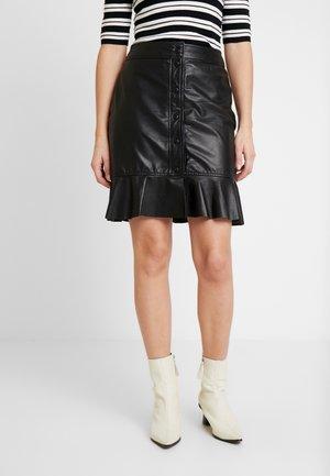 ABBY - Leather skirt - black