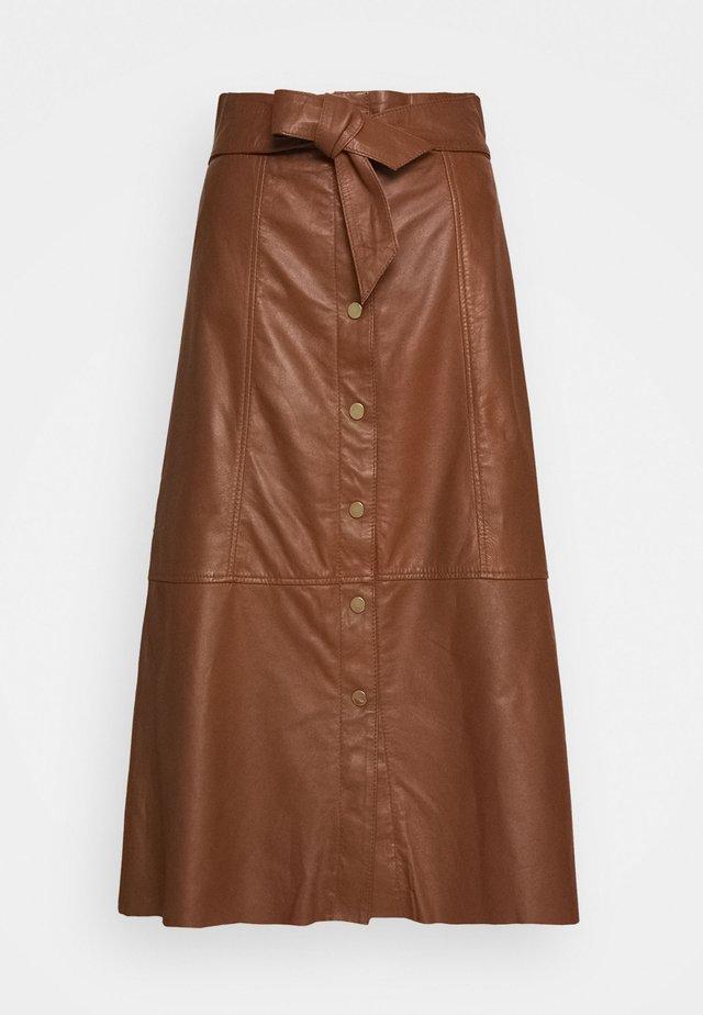 FLO - A-line skirt - brown