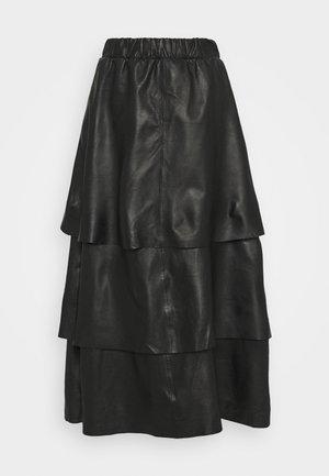 SABINE LAYERED SKIRT - Maxi skirt - black