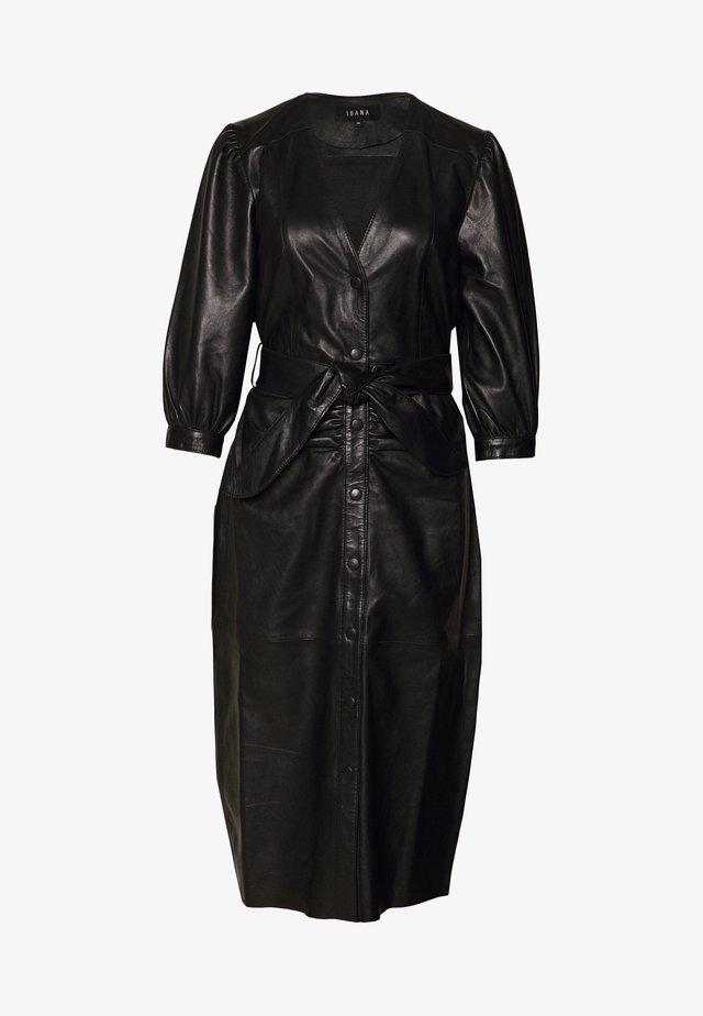 DORA DRESS WITH  BELT - Vestito estivo - black