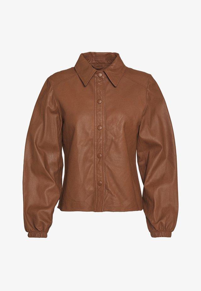 KAYLA - Button-down blouse - camel