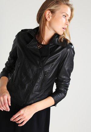BEAR BLAZE - Leren jas - black