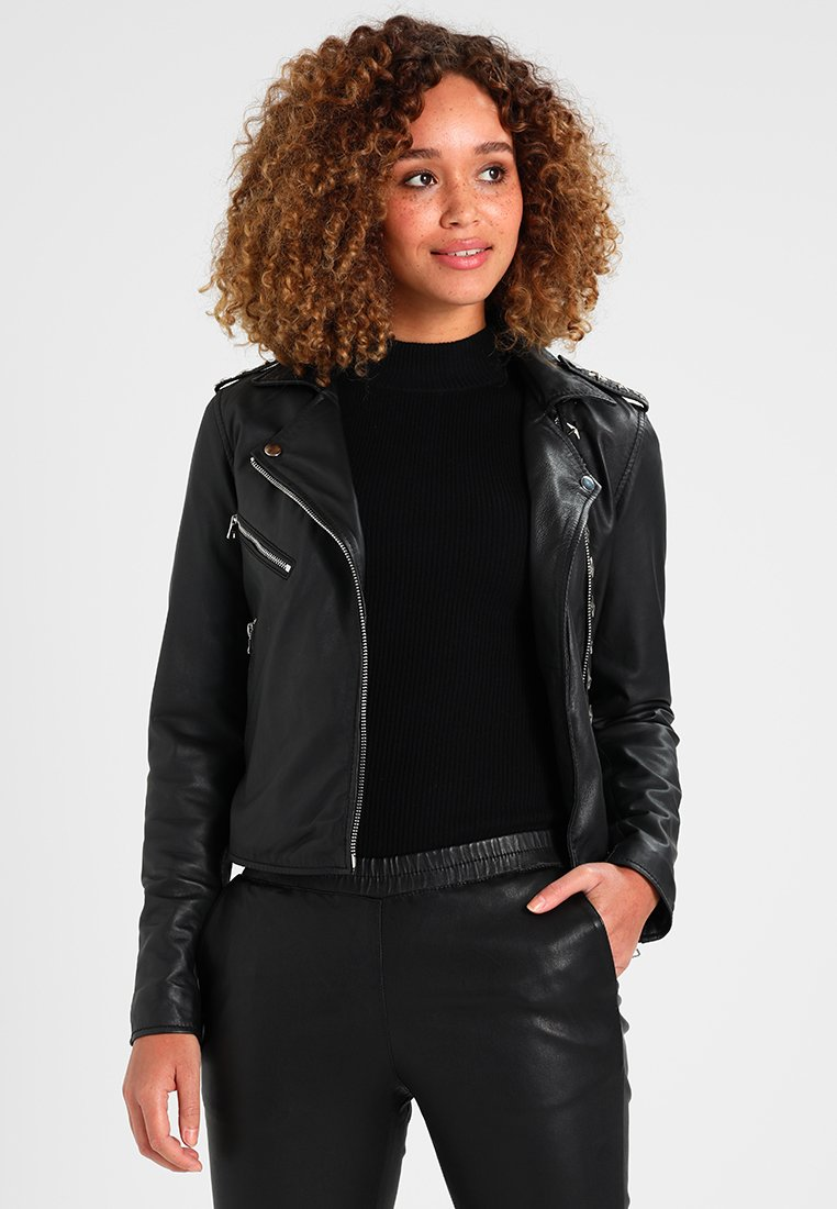 Ibana - MYKONOS - Leather jacket - black